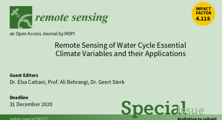 Remote Sensing Special Issue banner